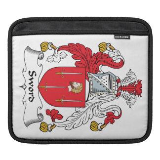 Sword Family Crest Sleeve For iPads