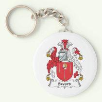 Sword Family Crest Keychain