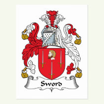 Sword Family Crest Postcard