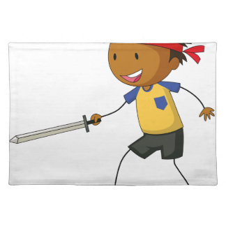 Sword fight cloth placemat