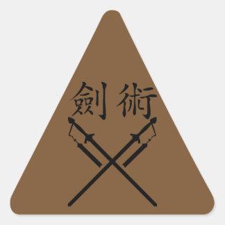 Sword Fighter Triangle Sticker