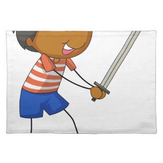 Sword fighting cloth placemat