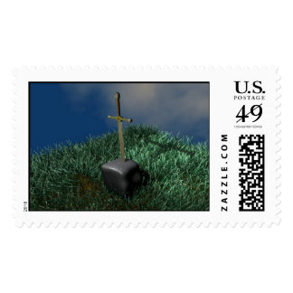 Sword in Stone Postage