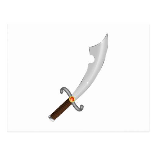 Sword more saber sabre post card