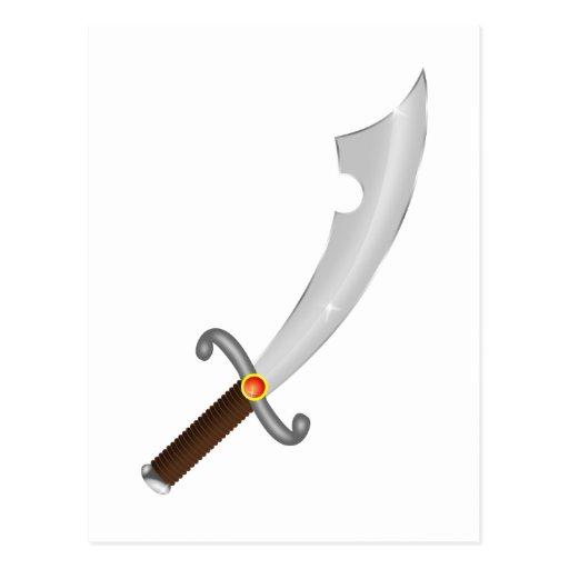 Sword more saber sabre post cards
