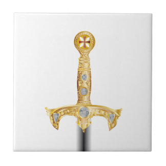 Sword of an Knight Templar Small Square Tile