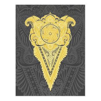 Sword of flowers,Tarot, spirituality,newage Postcard
