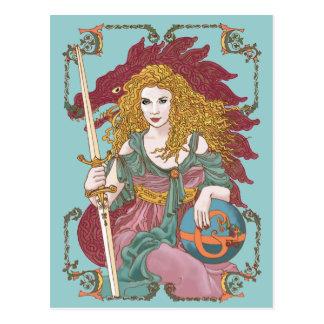 Sword of Gaia's Globe Postcard