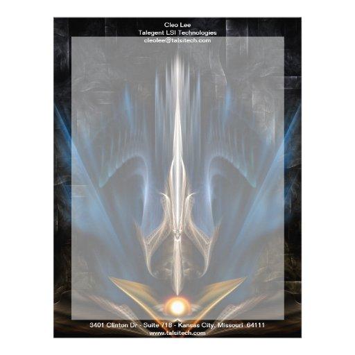 Sword OF Light Fractal Art Letterhead