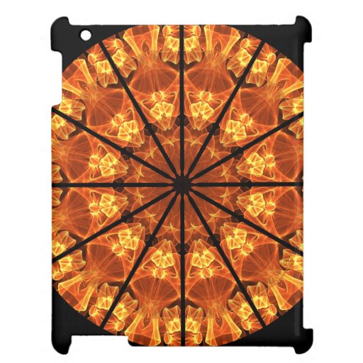 Sword of Passions Mandala, Abstract Orange Black iPad Case
