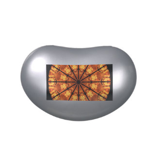 Sword of Passions Mandala, Abstract Orange Black Jelly Belly Candy Tin