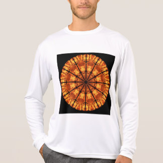 Sword of Passions Mandala, Abstract Orange Black T-Shirt