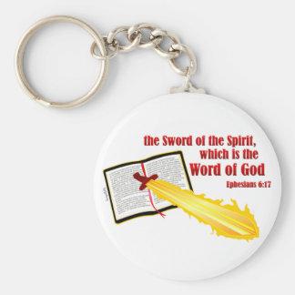 sword of the spirit christian gift keychain
