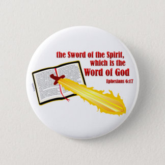 sword of the spirit christian gift pinback button