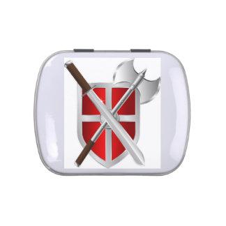 Sword Shield Battleaxe Jelly Belly Tin