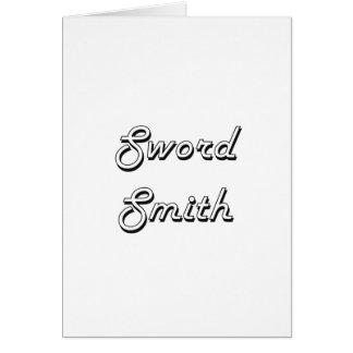 Sword Smith Classic Job Design Greeting Card