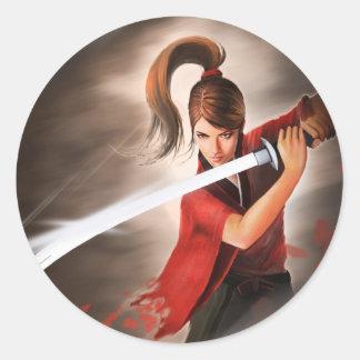 Sword Classic Round Sticker