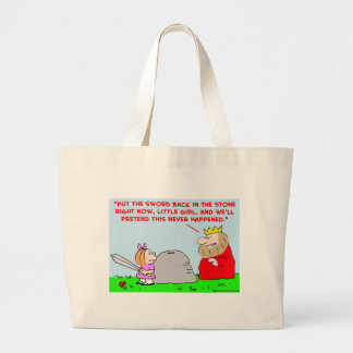 sword stone king canvas bags