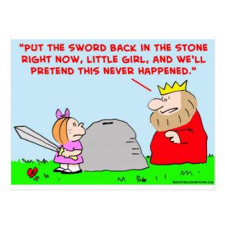 sword stone king postcard
