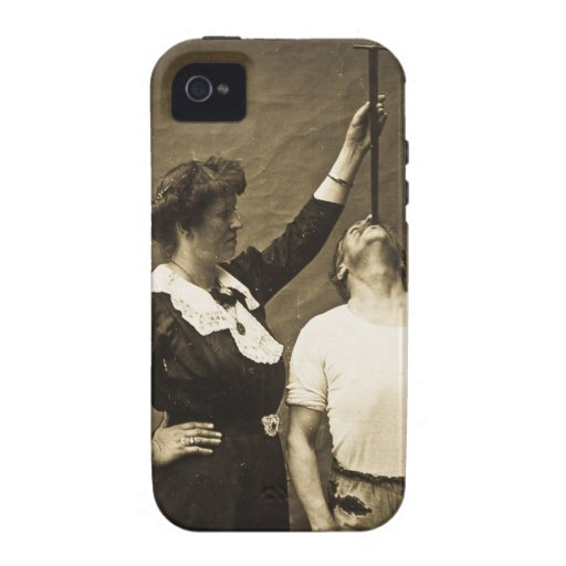 Sword Swallower and  Wife Vintage Sideshow Freaks iPhone 4 Cases