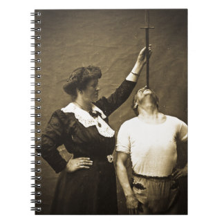 Sword Swallower and  Wife Vintage Sideshow Freaks Journal