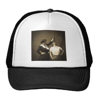 Sword Swallower and  Wife Vintage Sideshow Freaks Trucker Hat