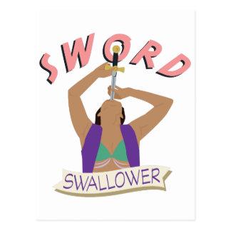 Sword Swallower Postcard