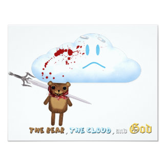Sword through bear's head and cloud card