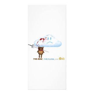 Sword through bear's head and cloud rack card