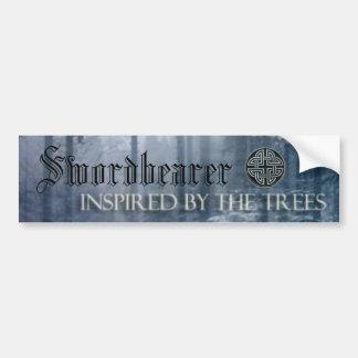 """Swordbearer """"Inspired by the Trees"""" bumper sticker"""