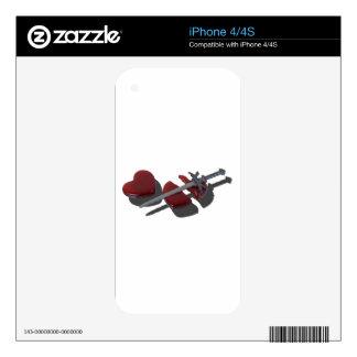 SwordBrokenGlassHeart012915 iPhone 4 Decal