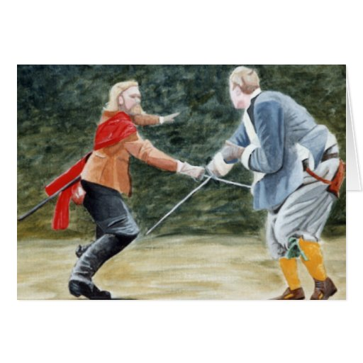 Swordfighting Tarjeta De Felicitación