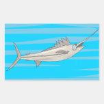 Swordfish 4 rectangular sticker