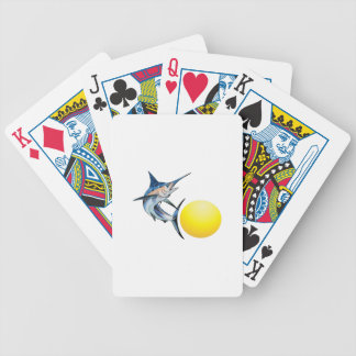 SWORDFISH AND SUN BICYCLE PLAYING CARDS