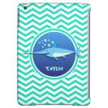 Swordfish; Aqua Green Chevron Cover For iPad Air