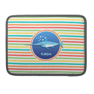 Swordfish Bright Rainbow Stripes Sleeves For MacBook Pro