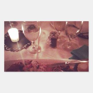 Swordfish Dinner Rectangular Sticker