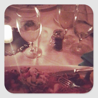 Swordfish Dinner Square Sticker