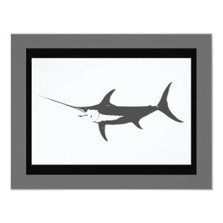 Swordfish Fishing art Card