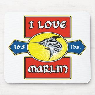 swordfish i love marlin fish mouse pad