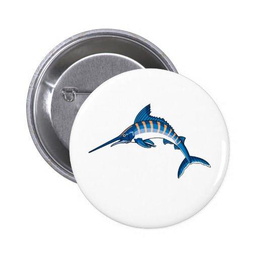 Swordfish Leap Pinback Buttons