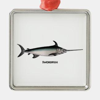 Swordfish Logo Metal Ornament