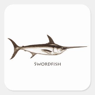 Swordfish Logo Square Sticker
