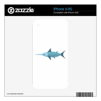 Swordfish Primitive Style Skin For The iPhone 4S