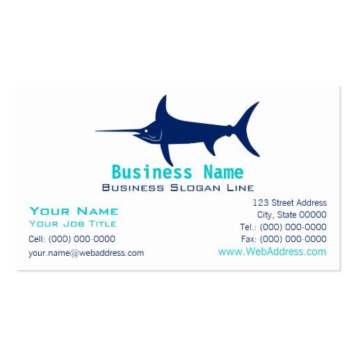 Swordfish Silhouette Business Card