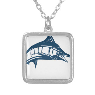 Swordfish Silver Plated Necklace