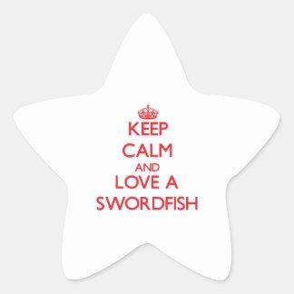 Swordfish Star Sticker