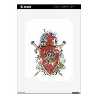 swords and red design skins for iPad 3