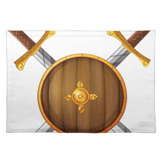 Swords and shield cloth place mat