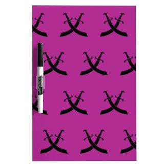 Swords Black Magenta Dry-Erase Boards